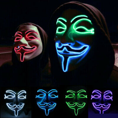Cat Mask For Halloween (Face Mask Anonymous Hacker V for Vendetta Guy Fawkes Halloween Cosplay Head)