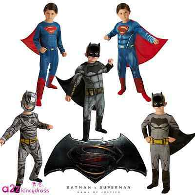 Batman V Superman Dawn Of Justice DC Deluxe Classic Kinder Kostüm 3-8 Jahre