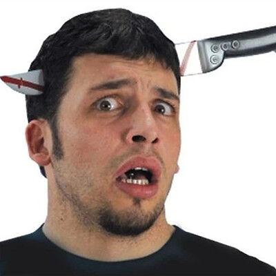 Kid Pranks On Halloween (Halloween Prank Joke Scary Blood Party Fake Knife Through on head Trick)