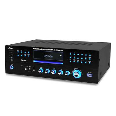 (PD1000A PYLE 1000W HOME HOUSE THEATER FM RECEIVER CD DVD MP3 USB AMP AMPLIFIER )
