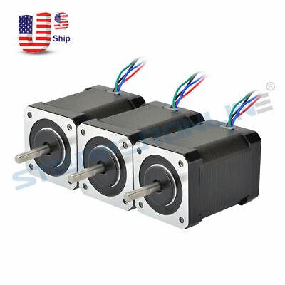 Stepperonline 3pcs Nema 17 Stepper Motor 65ncm92oz.in 2.1a 4-wire 3d Printer