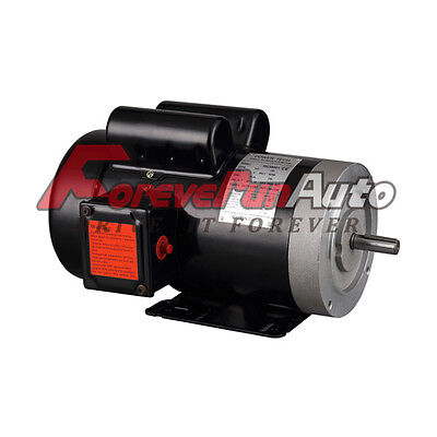 2 Hp Electric Motor 56c Single Phase Tefc 115230 Volt 3450 Rpm New