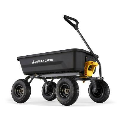 Gorilla Carts Garden Dump Cart 4 cu. ft. Poly