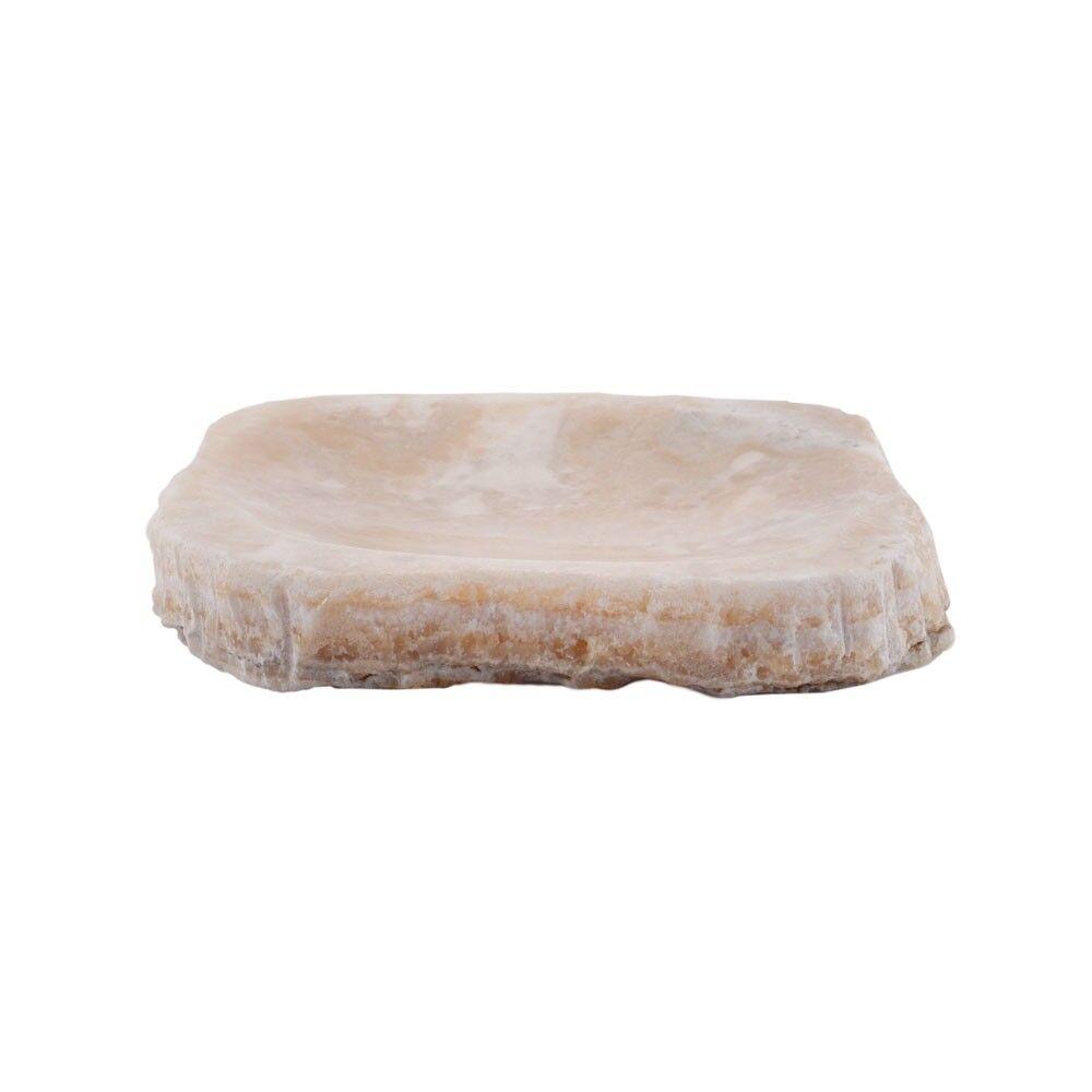 Onyx-Steinseifenschale 23cm Naturstein Seifen-Ablage fossil Onyx von wohnfreuden