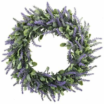 Door Hanging Artificial Lavender Flowers Wreath Garland Wall Wedding - Lavender Decorations