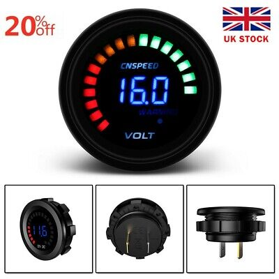 12v Meter Battery Monitor LED Digital Car/Boat/Marine Voltage Gauge Accessories