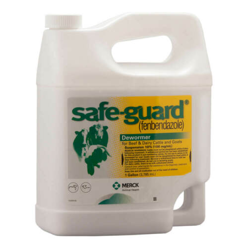 New - Safe-Guard Fenbendazole Dewormer Cattle & Goat Suspension 10% 1 Gallon