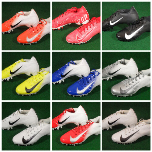 New Nike Vapor Untouchable Speed 3 TD Low Football Cleats White Black Red Blue