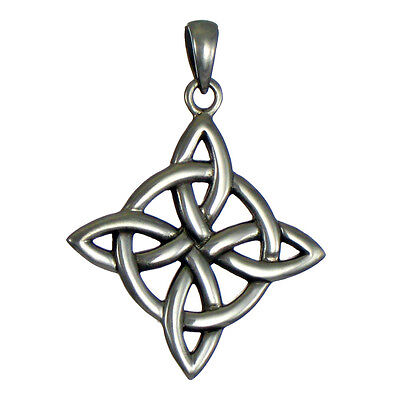- Sterling Silver Witches Quaternary Celtic Knot Wiccan Pagan Pendant Jewelry