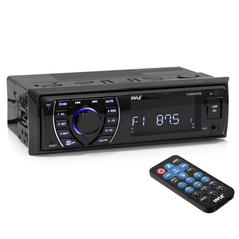 Pyle Hands-Free Bluetooth Marine MP3/USB/SD Radio Stereo Receiver PLRMR27BTB