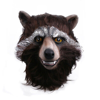 2017 Guardians Of The Galaxy Vol.2 Mask Cosplay Rocket Raccoon Halloween Mask