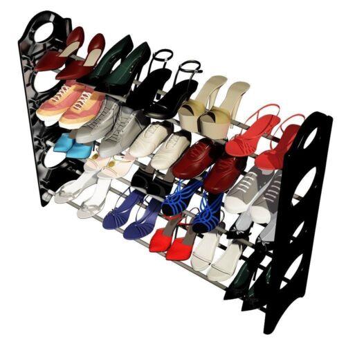 10 Tier 50 Pair Shoe Rack Wall Bench Shelf Closet Organizer Storage Box Stand