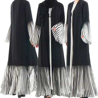 Dubai Kaftan Abaya Muslim Long Maxi Cocktail Kimono Dress Cardigan Islamic Robes