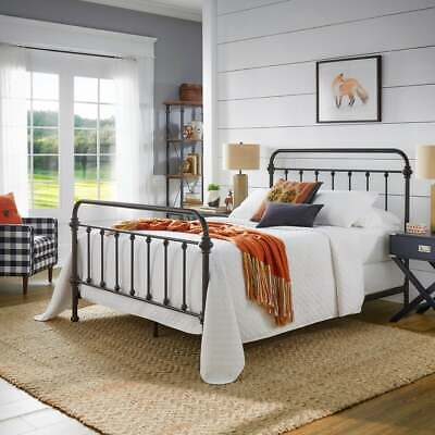 Twin Metal Antique Dark Bronze Victorian Iron Bed Frame By INSPIRE Q Classic