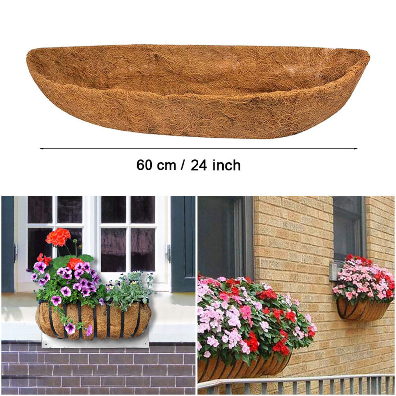 24 Inches Hanging Baskets Natural Coco Liners Trough Planter Replacement Liners