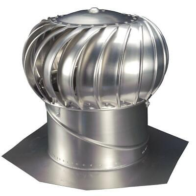 Internally Braced Aluminum Turbine - 12 in. mill finish aluminum internally braced wind turbine | whirlybird roof fan