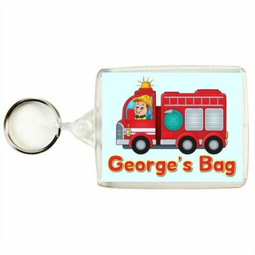 Personalised FIRE ENGINE Keyring / Bag Tag
