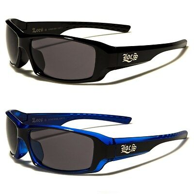 Locs Two Tone Rectangle Men's Motorcycle Rider (Two Tone Sunglasses)