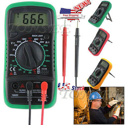 Lcd Digital Voltmeter Ammeter Ohm Multimeter Volt Ac Dc Meter Frequency Tester