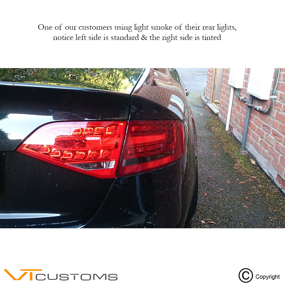 Car Tail Lights >> Details About 30cm X 120cm Light Smoke Black Tint Film Headlights Tail Lights Car Vinyl Wrap