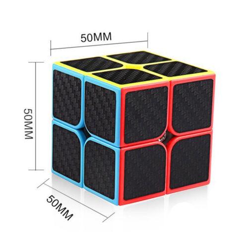 Mofangjiaoshi MF2 Carbon Fiber 2x2 Speed Cube Magic Cube Puzzle Toys for Kids