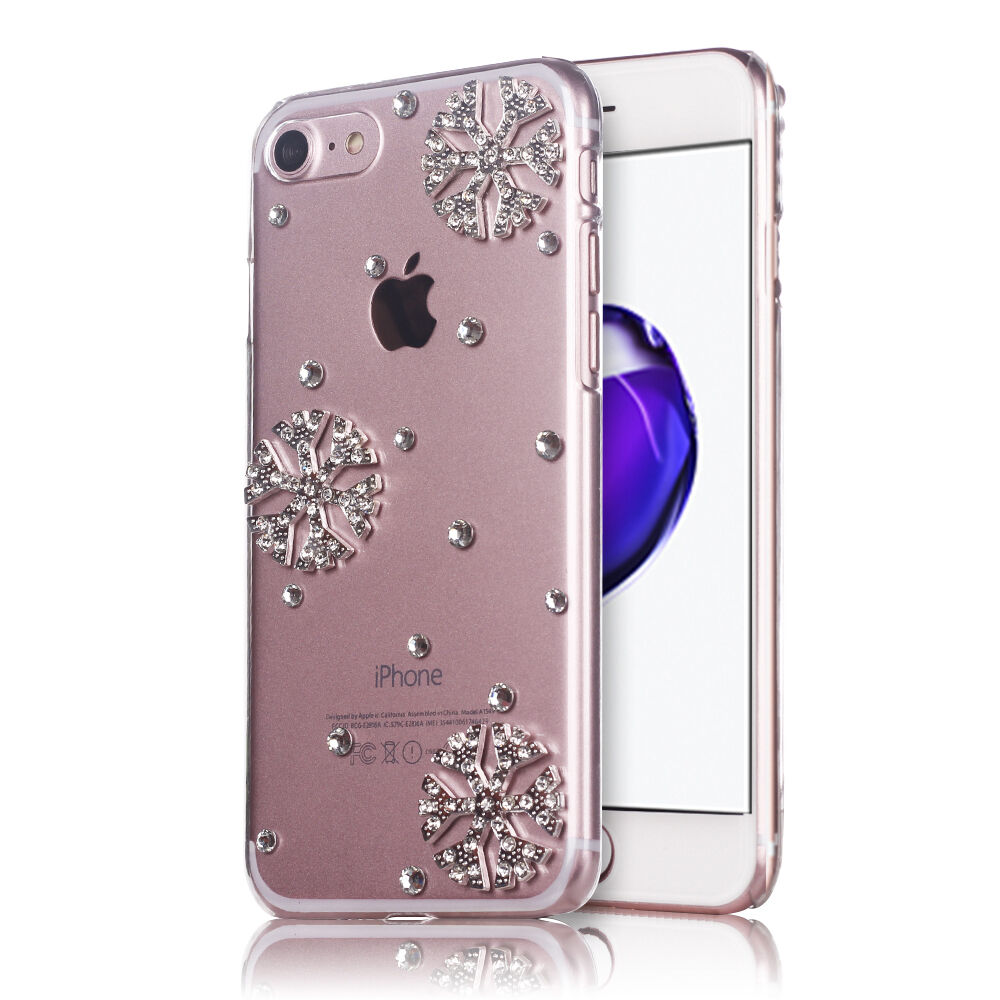 Snowflake Phone Case 3d Bling Crystal Glitter Diamond Hard Cover for Christmas