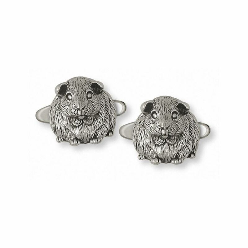 Guinea Pig Cufflinks Jewelry Sterling Silver Handmade Piggie Cufflinks GP1-CL
