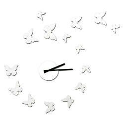 NEW! DIY SELF ADHESIVE WALL CLOCK - DO IT YOURSELF 3D BUTTERFLY WALL CLOCK