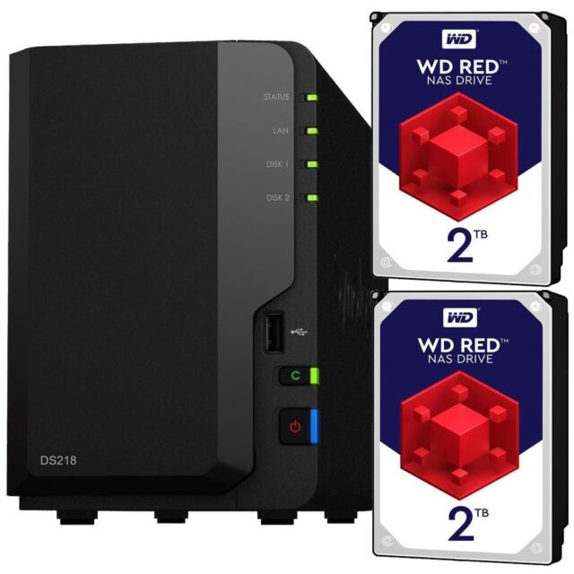Synology DS216Play 2 Bay Desktop NAS Unit 4TB (2 x 2TB WD RED) | in  Codsall, West Midlands | Gumtree