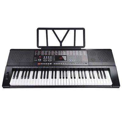61 Key Full Size Electronic Piano Keyboard Electric LCD USB