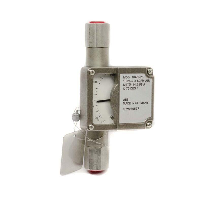 "ABB 10A3225 3/8"" Armored Variable Area Flow Meter 3 SCFM Air"