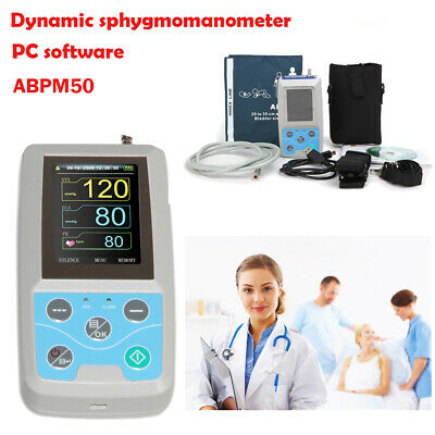 24h Nibp Holter Ambulatory Blood Pressure Monitor Abpm50pc Software