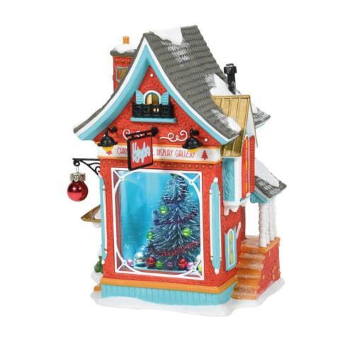 Dept 56 KRINGLES CHRISTMAS TREE DISPLAY GALLERY North Pole Village 2021 6005429