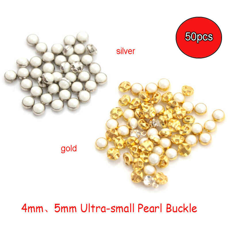 J79 Small 14mm 22L White Clear Pearl Pearlescent Polished Shank Craft Button