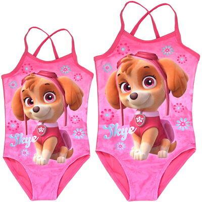 Baby Mädchen Badeanzug (Kinder Badeanzug PAW Patrol Motiv Skye Mädchen rosa 3 Größen 1,5-5 Jahre Neu)