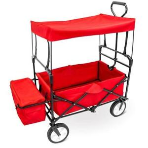 NEW Imagination Generation SWAG-101 Folding Collapsible Utility Wagon with Canopy, Red