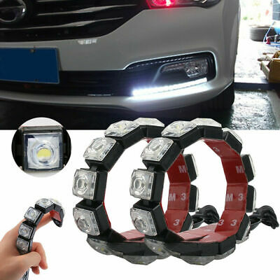 2x 10 LED Daytime Running Lights Car Driving DRL Fog Lamp Light White Bright 12V