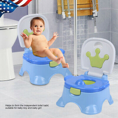 Kids Potty Training Seat with Step Stool for Baby Boy Girl Toddler Toilet Chair