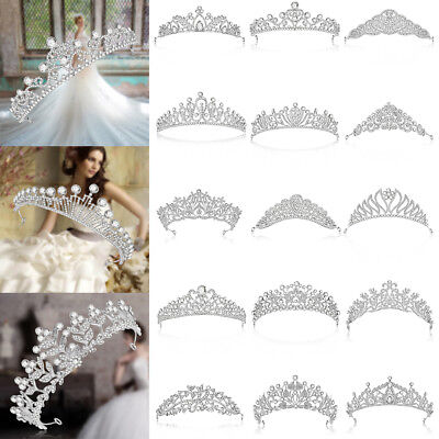 Bridal Wedding Rhinestone Crystal Hair Band Princess Prom Crown Headband Lot](Princess Headband)