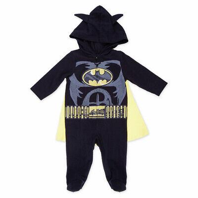 Warner Bros Batman Baby Reißverschluss Bündel Overall Umhang Kapuze Ohren Kostüm