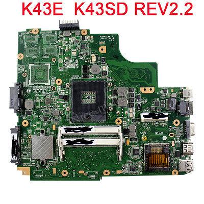 For ASUS K43E Laptop Motherboard K43SD REV:2.2 Mainboard PGA 989 100% tested comprar usado  Enviando para Brazil