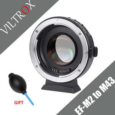 VILTROX EF-M2 AF Adapter 0.71x Focal Reducer Boost fr Canon EF mount to M43 lens