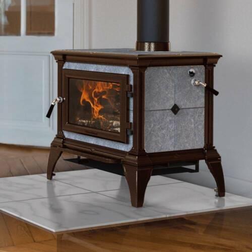 Hearthstone Castleton 1 Hybrid Soapstone Brown Enamel Wood Stove 8031-4120 New