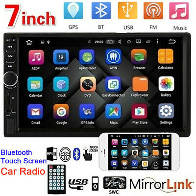 "7"" Double 2 DIN Car Stereo Radio MP5 Bluetooth Touch Screen USB AUX Camera HOT"