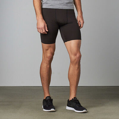 Hylete Mens Black Apex Light Compression Shorts Size Large Nwt