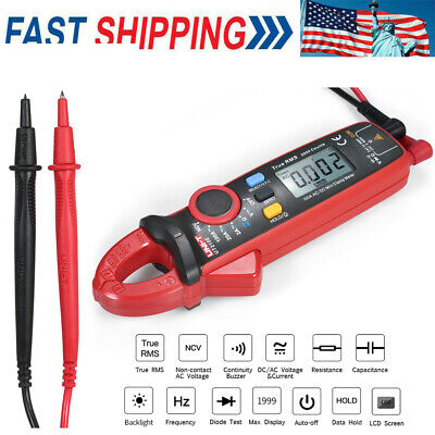 Handheld Uni-t Ut210e True Rms Acdc Current Clamp Meter With Capacitance Tester