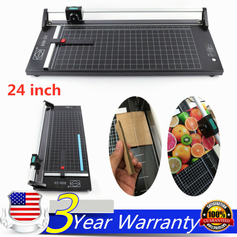 24 Inch Sharp Photo Paper Cutter Manual Precision Rotary Paper Trimmer US Stock