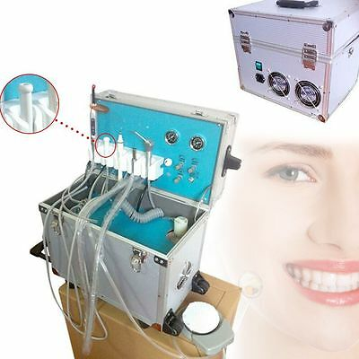 Led Dental Portable Delivery Unitsystem Rolling Case With Weak Suction 4 Holes