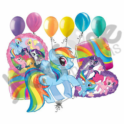 11 pc My Little Pony Happy Birthday Balloon Bouquet Party Disney Rainbow Dash