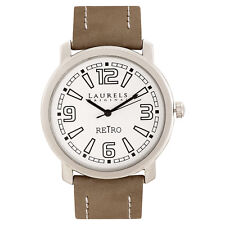 Laurels Retro 1 Analog Silver Dial Men's Watch ( Lo-Ret-101)